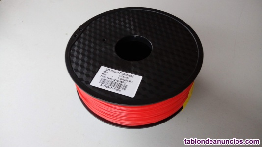 Filamento abs rojo 1 kg rollo 1,75 mm - nuevo