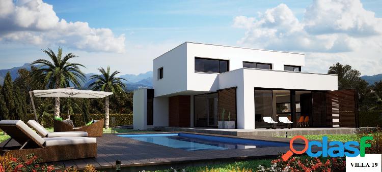 Villa de estilo moderno situad