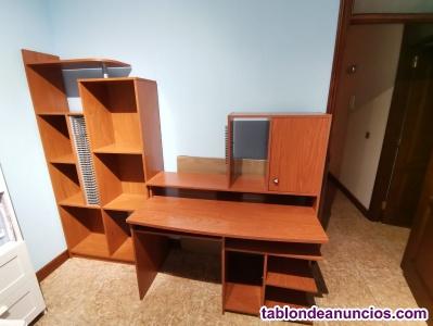 Mesa de estudio y librería
