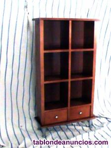 Mueble auxiliar cajones y estantes en cruz