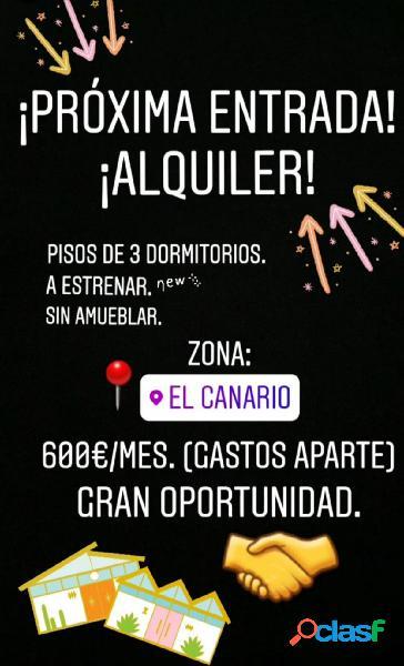 OPORTUNIDAD. PISOS RECIÉN REFORMADO EN EL CANARIO.
