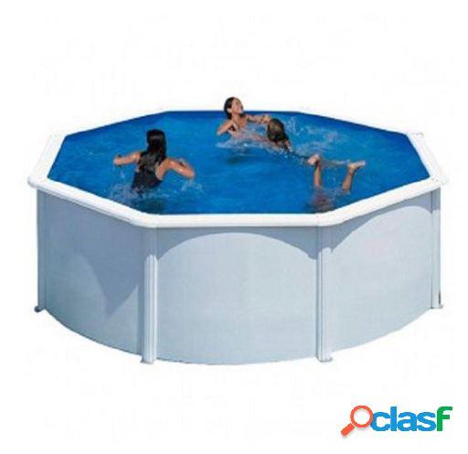 Gre Bora bora piscinas de pared de acero blanco 460x120 cm