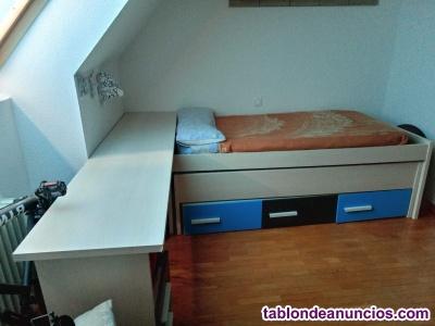Cama nido con escritorio