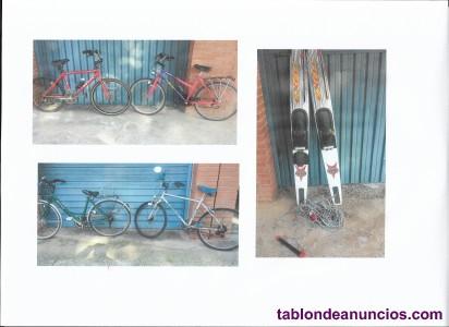 Vendo cuatro bicicletas y skis nàuticos