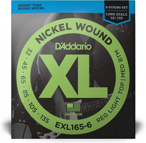D\\\'Addario EXL - Juego de 6 cuerdas para bajo