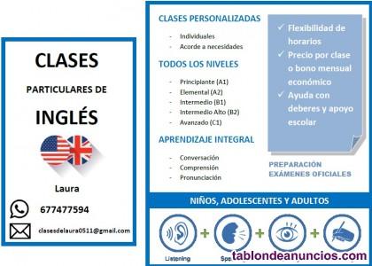 Filóloga inglesa da clases particulares de inglés para