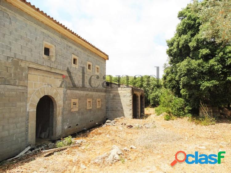 Casa en construcción en Artá.