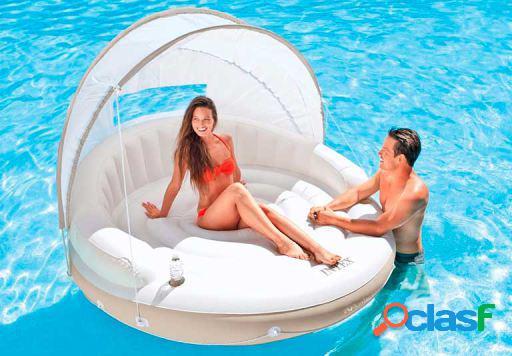Intex Isla Hinchable Con Parasol 199x150 Cm