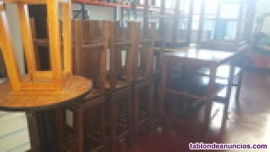 Lote mobiliario madera