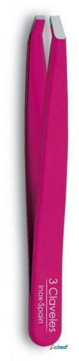 3 Claveles Pinza Depilar Cangrejo Indico Rosa 9.5 Cm