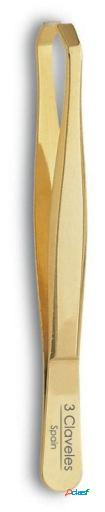 3 Claveles Pinza Profesional Oro 8Cm