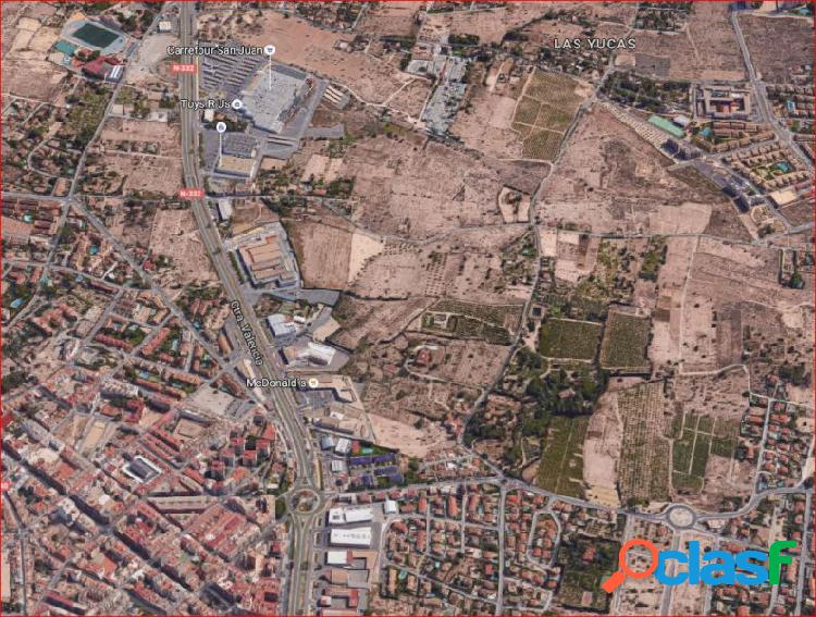 70.000 metros cuadrados urbanizables en San Juan, carretera