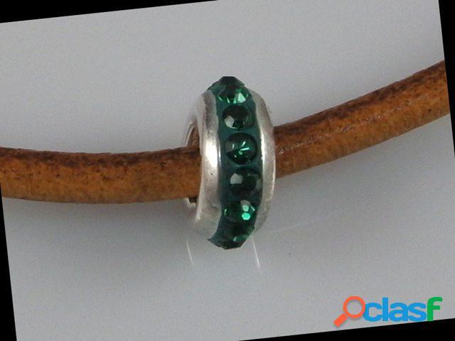 Abalorio de plata cristal verde 1