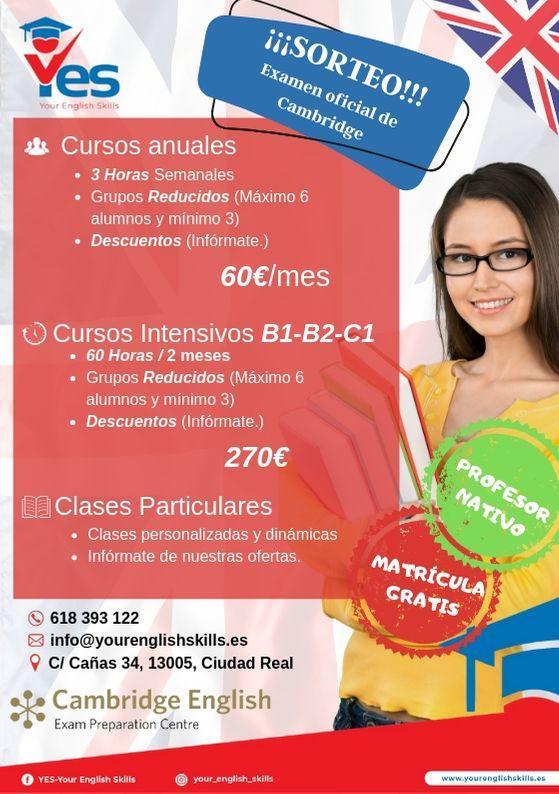 Abierto plazas para cursos de inglés