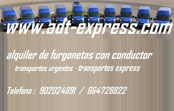 Alquiler furgonetas con conductor: transportes mudanzas -