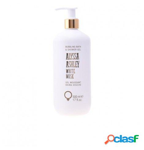 Alyssa Ashley Gel de baño y ducha de almizcle blanco 500 ml