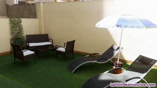Apartamento 4 dormitorios con patio