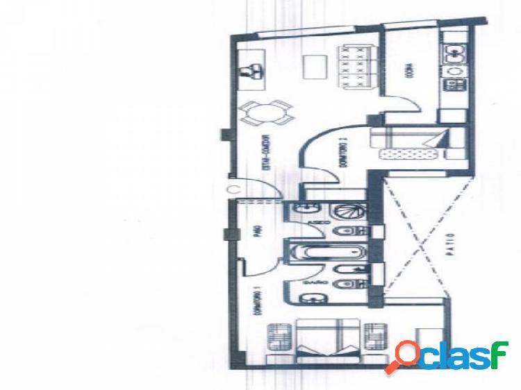 Apartamento de 62 m2 con 2 dormitorios y 2 baños, nuevo a