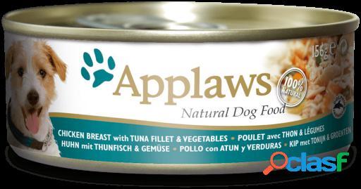Applaws Lata con Pollo, Atun y Verduras para Perros 156 GR