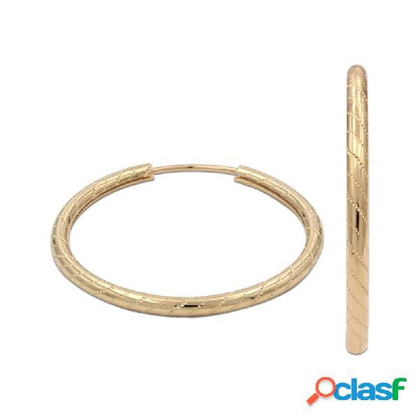 Aros de tubo en oro de 18 kl. 16 mm.
