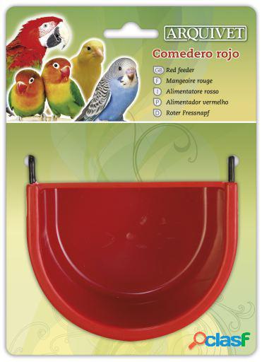Arquivet Comedero rojo 11,5x8x8 cm 70 GR