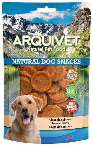 Arquivet Snack Natural para Perros Chips de Salmón 110 GR