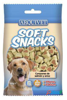 Arquivet Soft Snacks Corazones Salmón y Arroz 800 GR