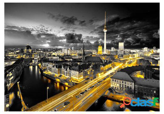Artgeist Fotomural Berlín por la noche 100x70 cm