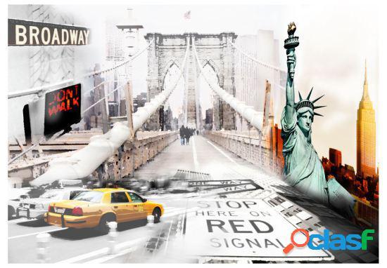 Artgeist Fotomural Calles de Nueva York 150x105 cm
