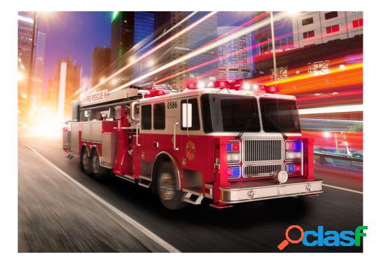 Artgeist Fotomural Camión de bomberos 250x175 cm