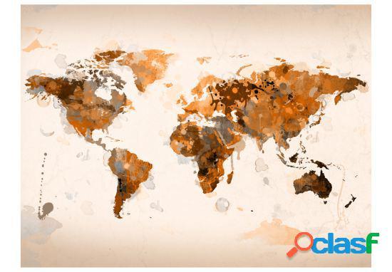 Artgeist Fotomural El mundo en marrones 200x154 cm