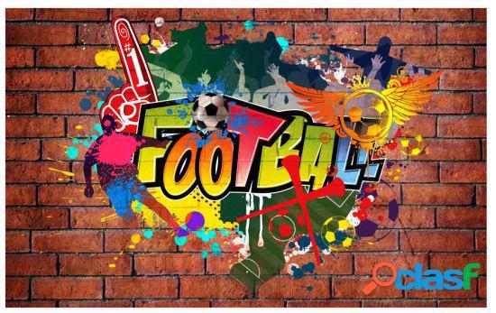 Artgeist Fotomural Football fans 300x210 cm