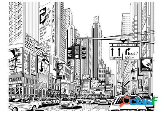 Artgeist Fotomural Las calles de Nueva York 200x154 cm