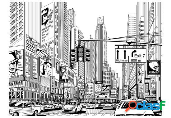 Artgeist Fotomural Las calles de Nueva York 250x193 cm
