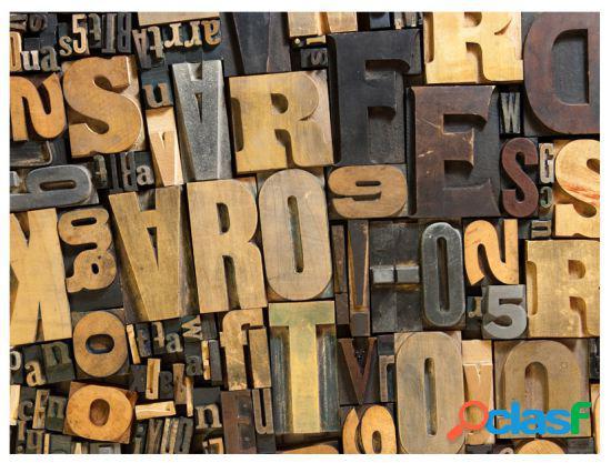 Artgeist Fotomural Letras De Madera 250x193 cm