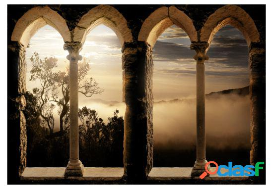 Artgeist Fotomural Monasterio en las montañas 150x105 cm