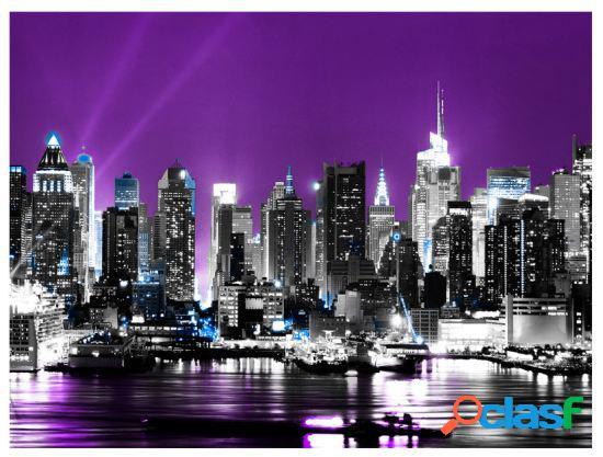 Artgeist Fotomural Nueva york color púrpura 350x270 cm