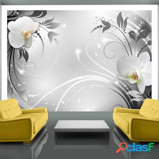 Artgeist Fotomural Orquídeas en la plata 100x70 cm