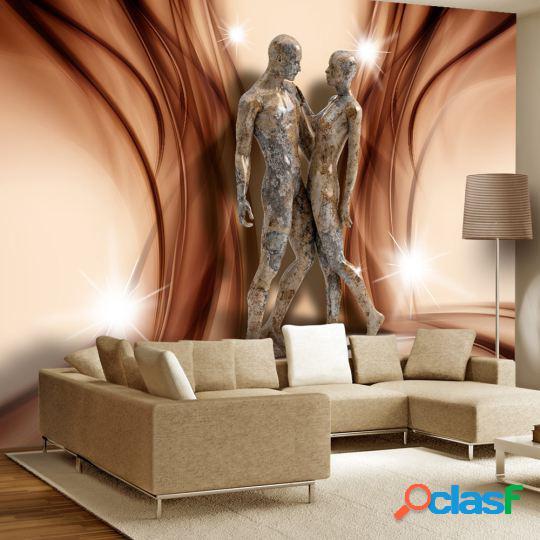 Artgeist Fotomural Pareja de piedra 300x210 cm