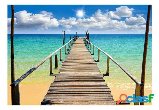 Artgeist Fotomural Playa sol puente 100x70 cm