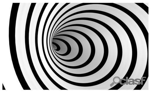 Artgeist Fotomural Un túnel 3D en blanco y negro