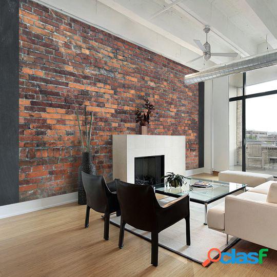 Artgeist Fotomural Vintage Wall Red Brick 100x70 cm