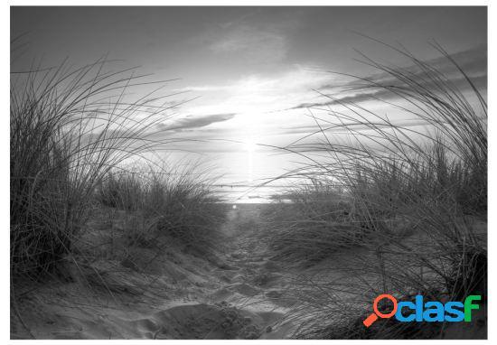 Artgeist Fotomural beach black and white 100x70 cm