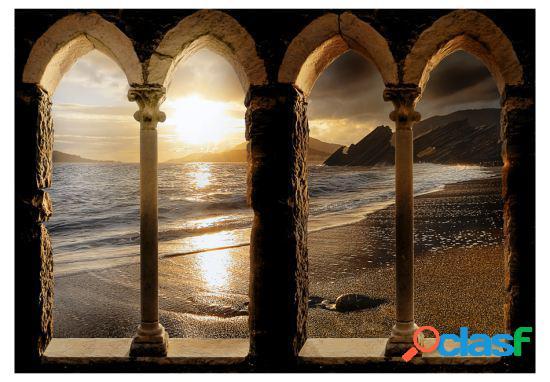 Artgeist Fotomural castillo en la playa 100x70 cm