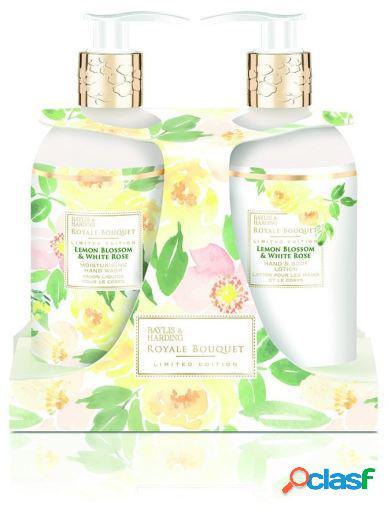 Baylis & Harding Royale Bouquet Set de limón y rosa blanca