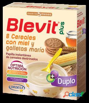 Blevit Papilla 8 Cereales Plus Duplo con Miel y Galletas 600