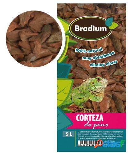 Bradium Corteza de Pino natural 10 litros 2.4 Kg 2.4 KG