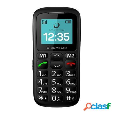 "Brigmton Btm11 Telefono Movil 1. 7"" Sos Bt + Dock, original"