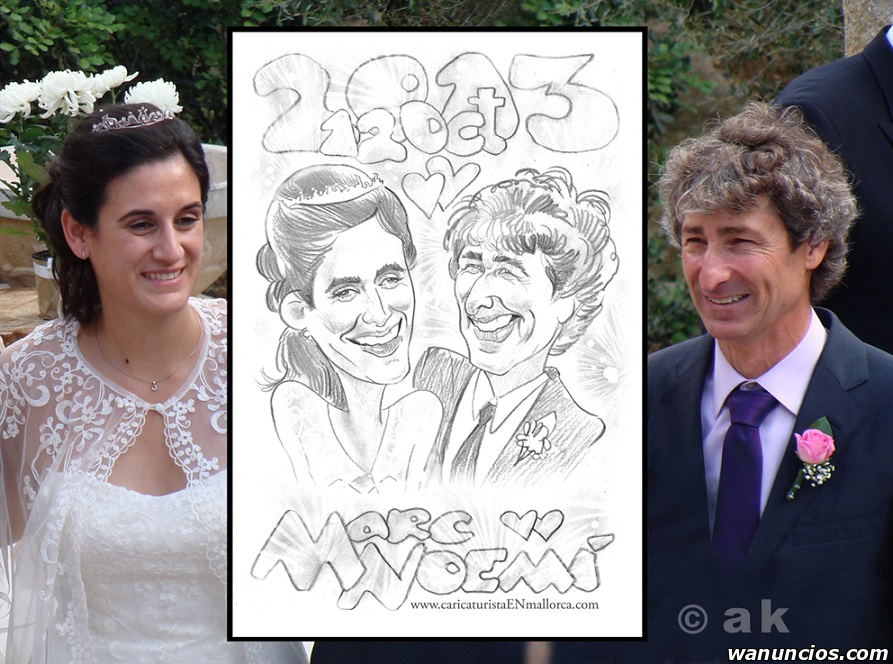 CARICATURES for Weddings and parties - Mallorca - Islas