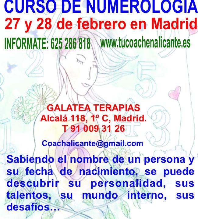 CURSO DE NUMEROLOGIA EN MADRID - Madrid